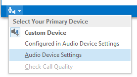 Work with audio and voice calls in Hosted Skype for Business