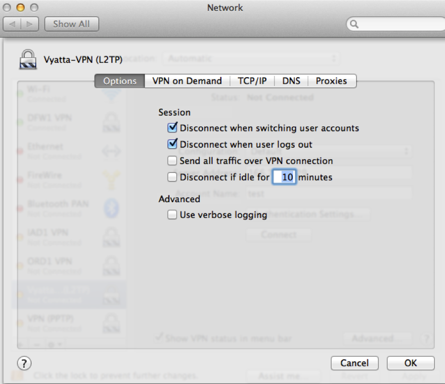 Configure Remote Access VPN Service on a Vyatta Appliance