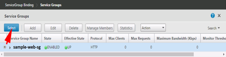 Setting up basic load balancing in Citrix NetScaler