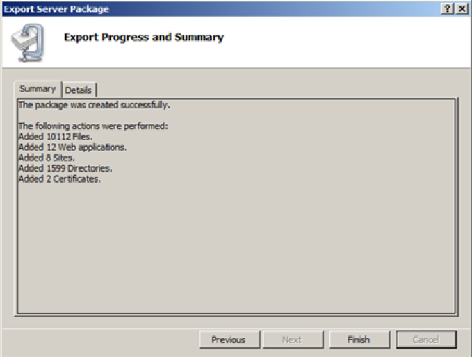 Steps to migrate multiple IIS sites