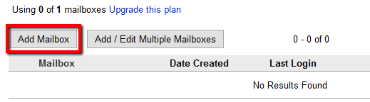 Add Rackspace Email mailboxes