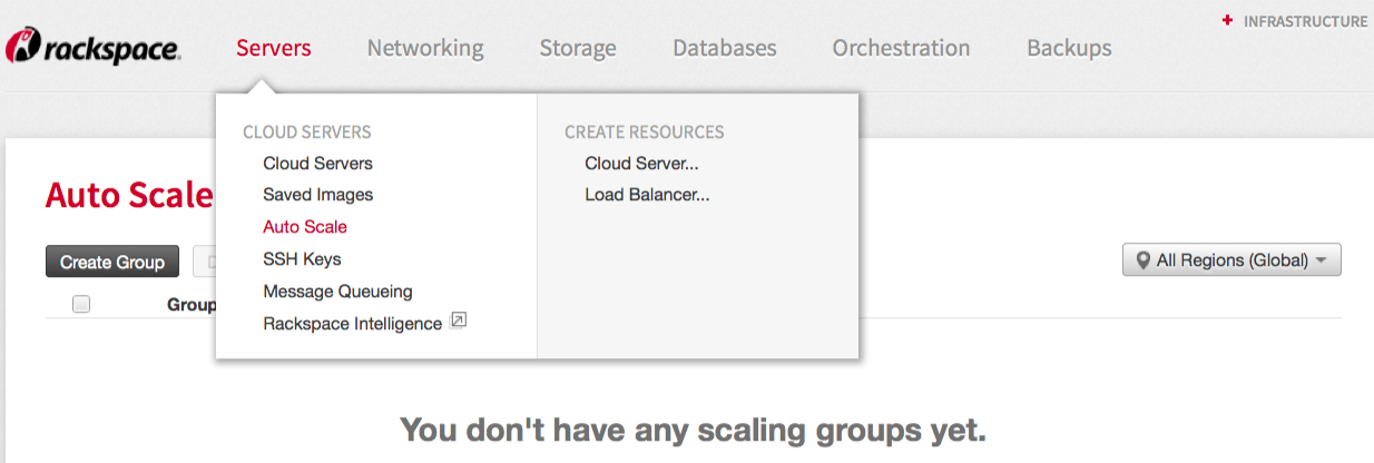 If anyone at your account is using Auto Scale, a scaling group is listed.