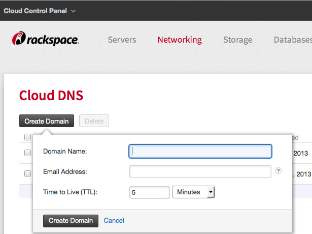 Networking > Cloud DNS > Create Domain