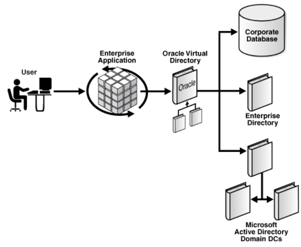 A diagram showing how OVD fits into enterprise architecture