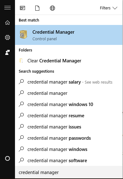 Clear Credential Manager
